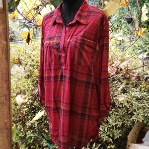 NWT French Laundry Plaid Terracotta Combo